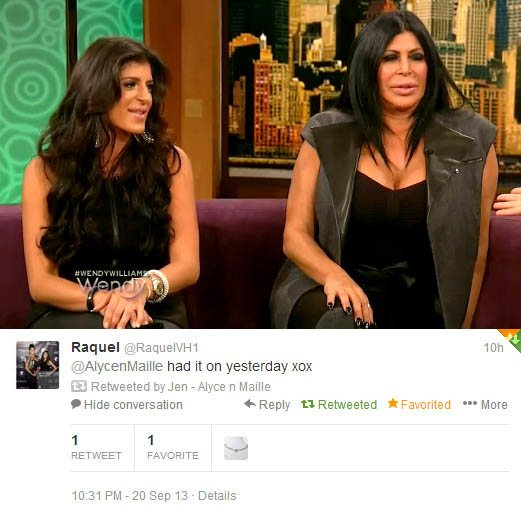 Raquel of VH1's Miami Monkey wearing her Alyce n Maille bracelet on The Wendy William's Show