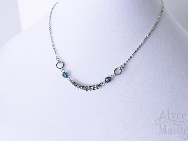 Blue Twist Crystal Necklace as seen on Jane The Virgin