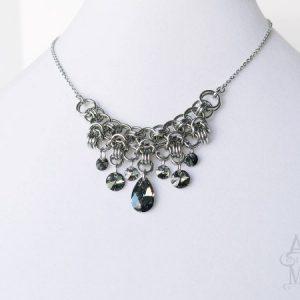 Metallic Crystal Statement Necklace