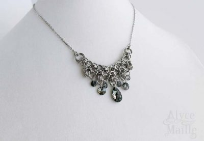 Metallic Crystal Statement Necklace