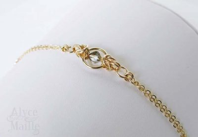 Crystal and Gold Bracelet as seen on Jane The Virgin