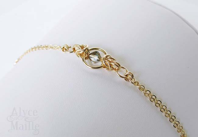 Crystal and Gold Bracelet as seen on Jane The Virgin - gold filled bracelet