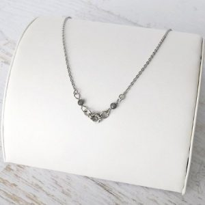 Labradorite Love Knot Stainless Steel Necklace
