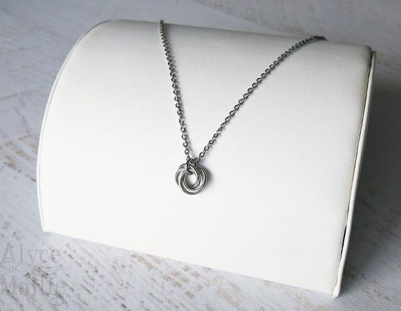 Love Knot Stainless Steel Necklace