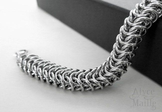 Alyce n Maille Mens Stainless Steel Bracelet