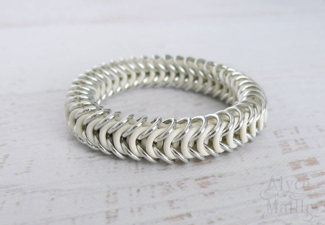 White and Silver Bracelet