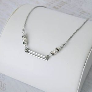 Pearl Geometric Stainless Steel Necklace