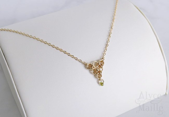 Japanese Lace Gold Necklace