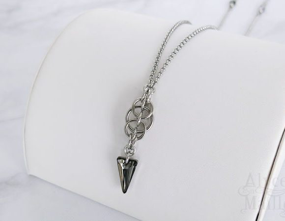 Crystal Spike Stainless Steel Pendant