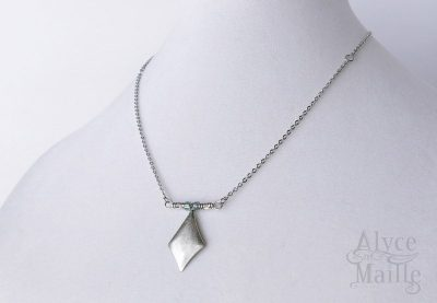 stainless steel aquilone necklace