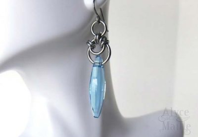 Alyce n Maille Blue Crystal Shard Earrings