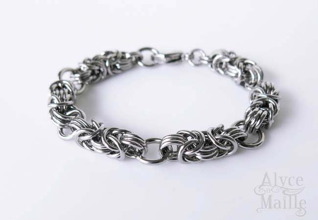 Chainmaille stainless steel bracelet stainless steel jewelry for Stainless steel jewelry durability