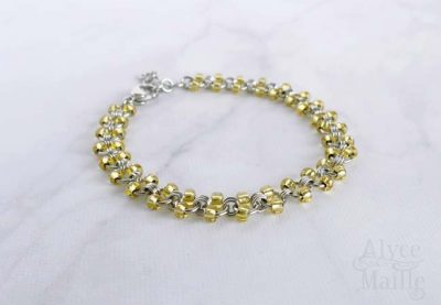 Alyce n Maille Gold Beaded Stainless Steel Anklet