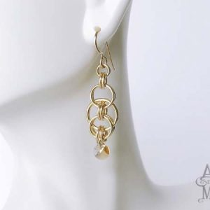 Alyce n Maille Unity Crystal and Gold Earrings
