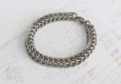Alyce n Maille Men's Stainless Steel Chainmaille Bracelet