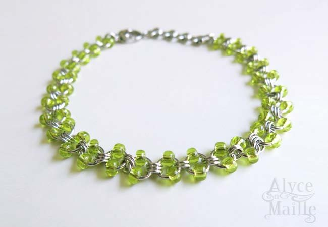 Alyce n Maille Lime Light Stainless Steel Anklet