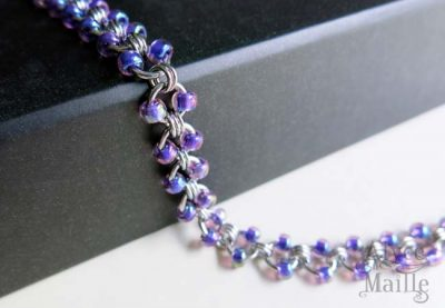 Alyce n Maille Iridescent Purple Stainless Steel Anklet