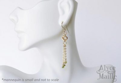 Seline's Forever Gold Tassel Earrings as seen on The Vampire Diaries