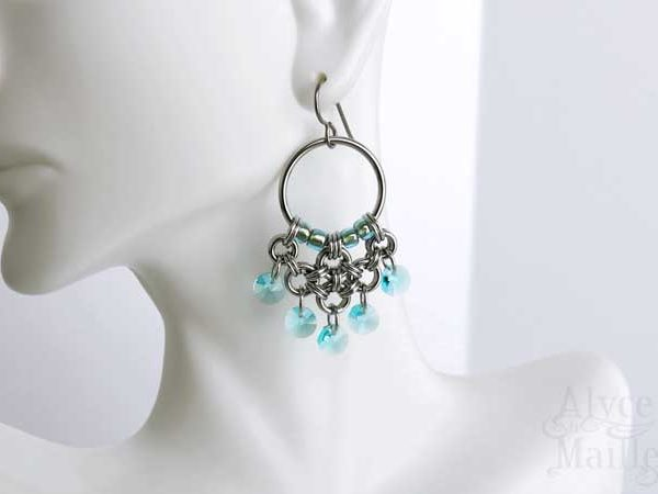 Turquoise Crystal Chandelier Earrings as Seen on Jane The Virgin