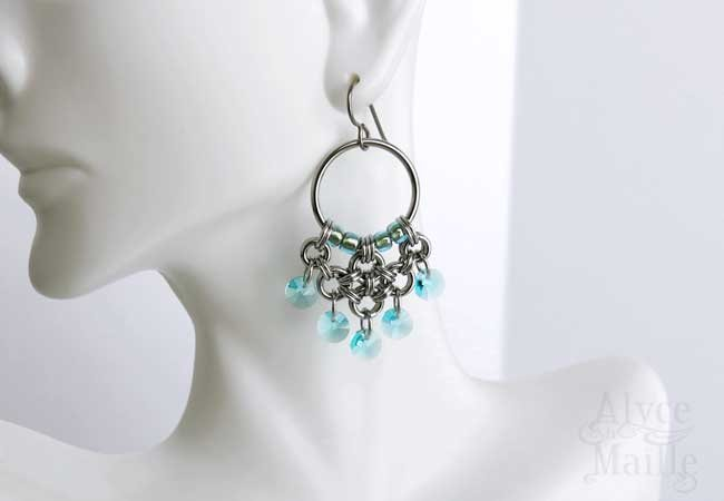 Turquoise Crystal Chandelier Earrings as Seen on Jane The Virgin