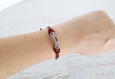 Alyce n Maille Brown Leather Bracelet