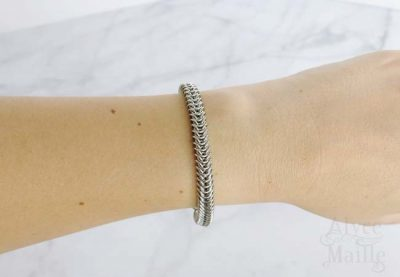 Alyce n Maille Box Chain Stainless Steel Bracelet