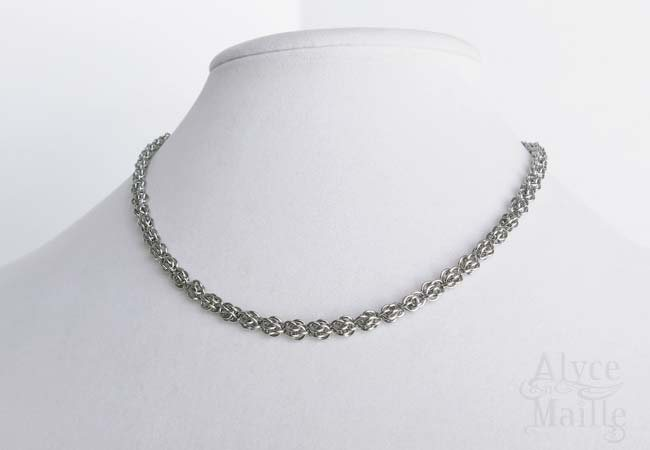 Alyce n Maille Micromaille Sweetpea Stainless Steel Necklace