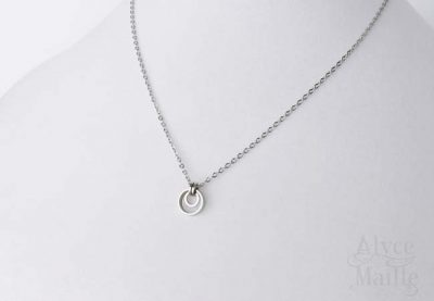 Alyce n Maille eclipse stainless steel pendant