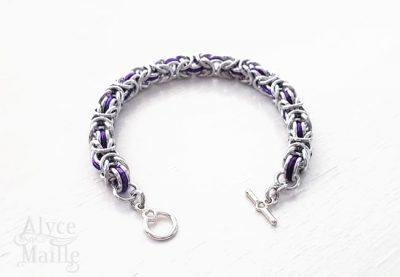Purple Byzantine Bracelet