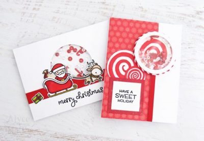 Christmas Shaker Card Set