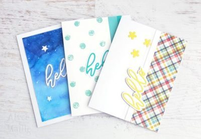 hello greeting card set