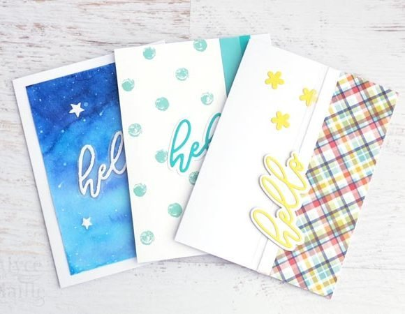 hello greeting card set