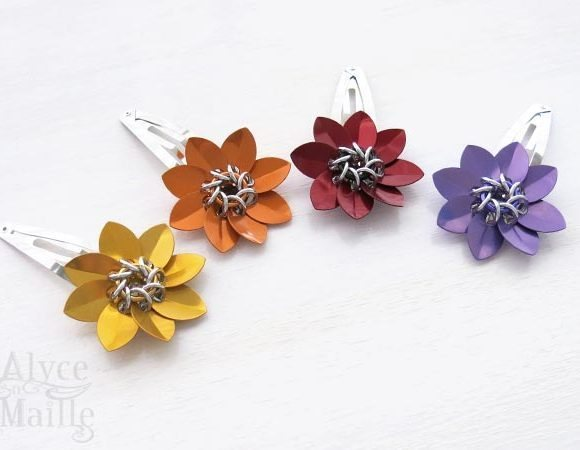 Scale Flower Barrette