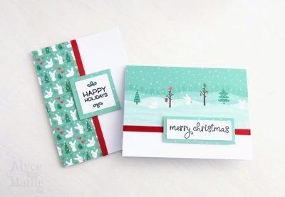 Bunny Christmas Card Set